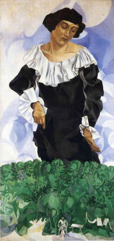 Marc Chagall. Bella white collar