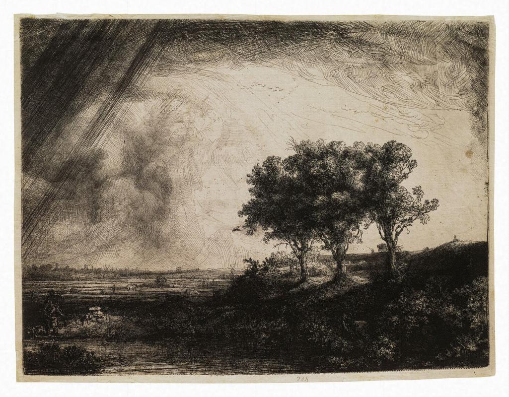 Рембрандт Харменс ван Рейн. Три дерева