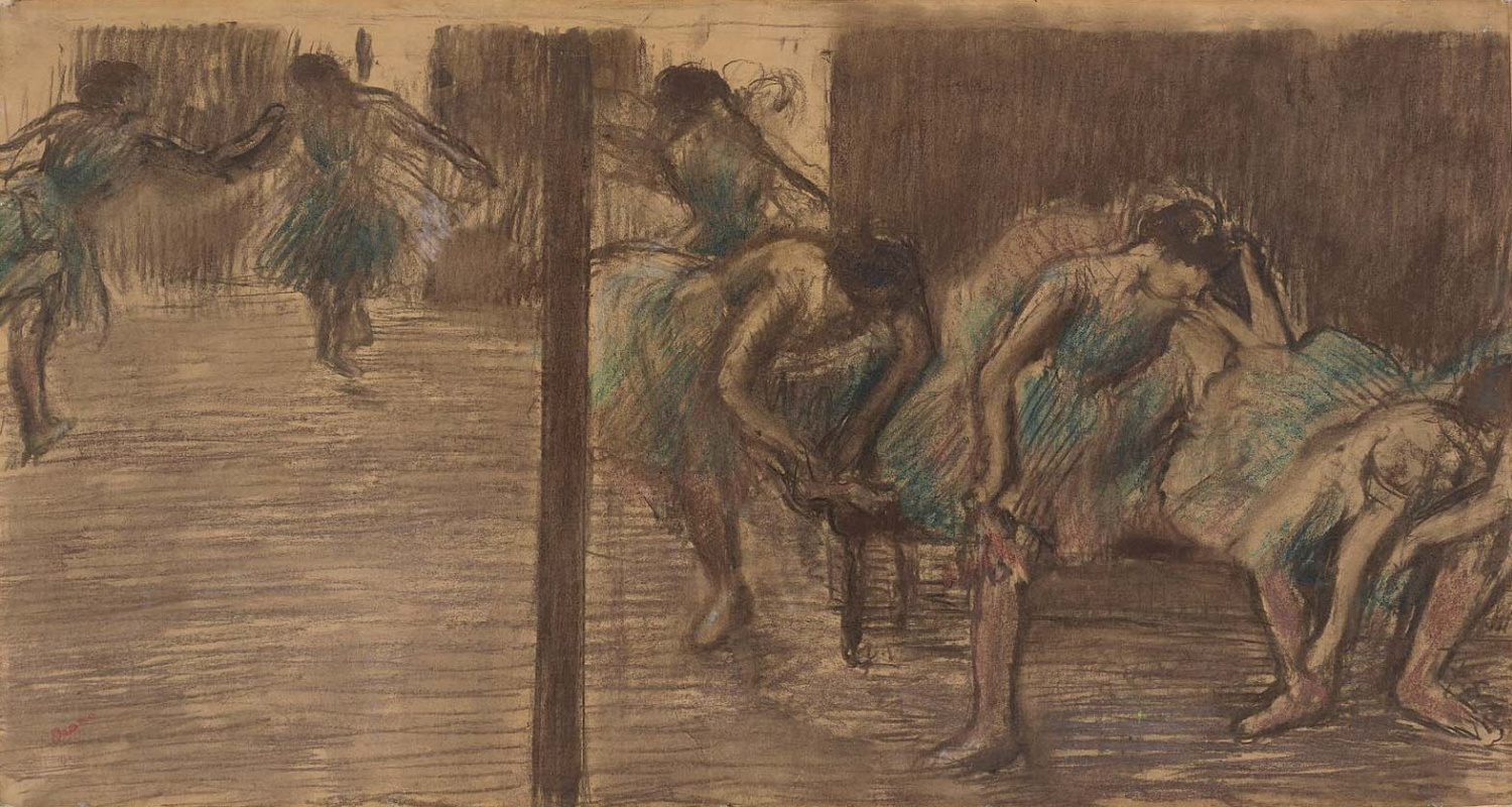 Edgar Degas. Dancers in the rehearsal room