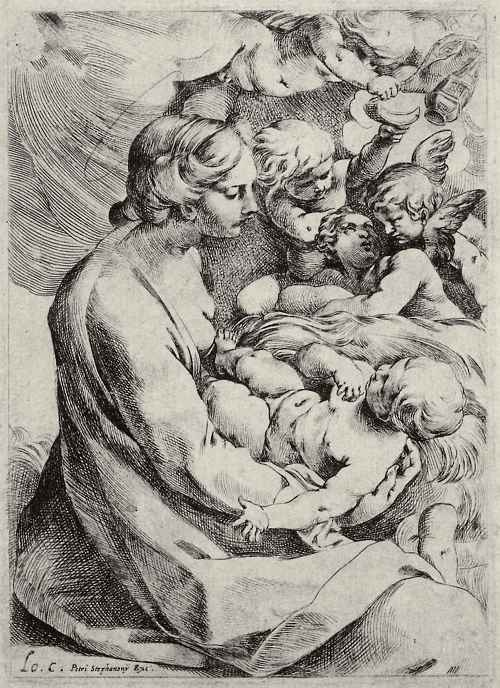 Лодовико Карраччи. Мадонна с ангелами