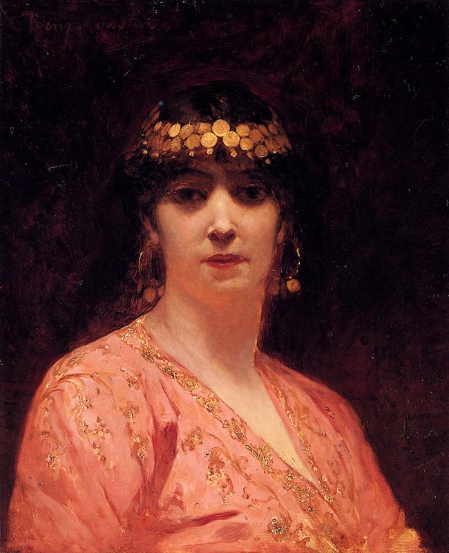 Жан-Жозеф Бенжамен-Констан. Женский портрет