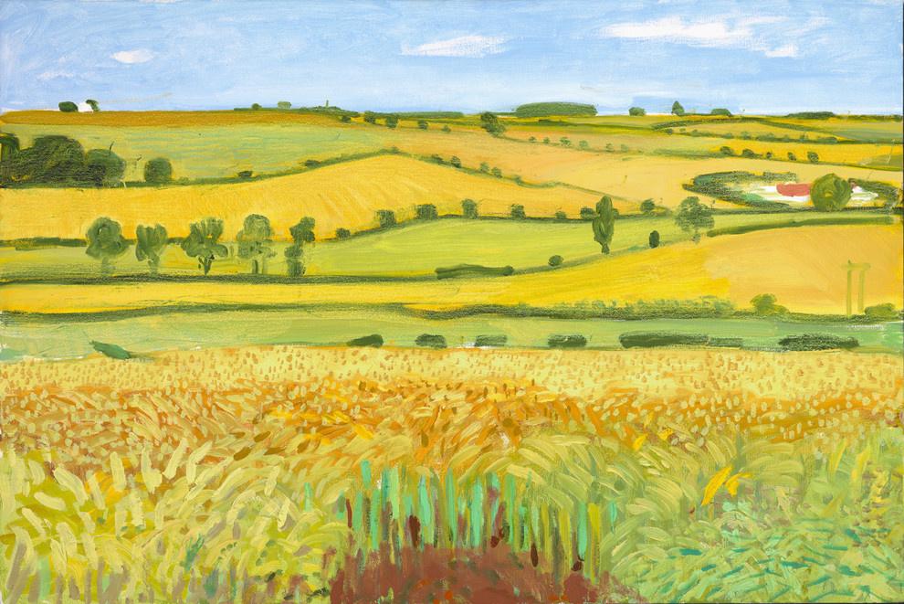 David Hockney. Woldgate Vista, 27 July 2005