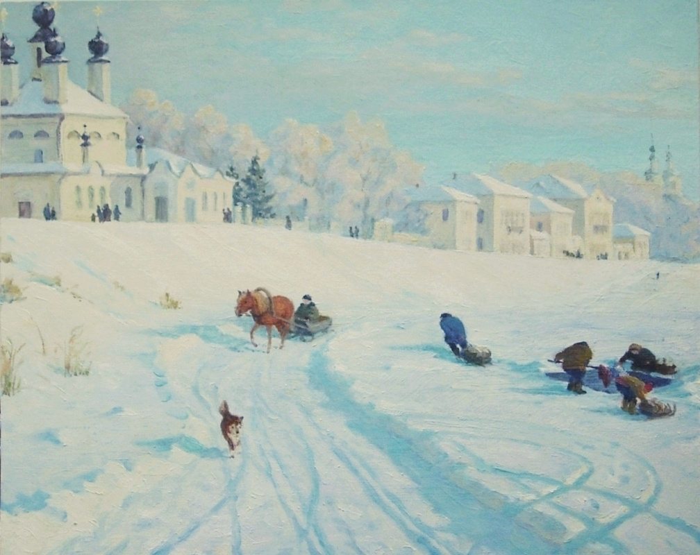 Igor Lemekhov. Great Ustyug. Winter embankment.