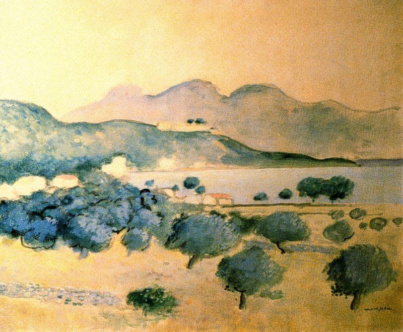 Jose Mompou. Landscape with a lake