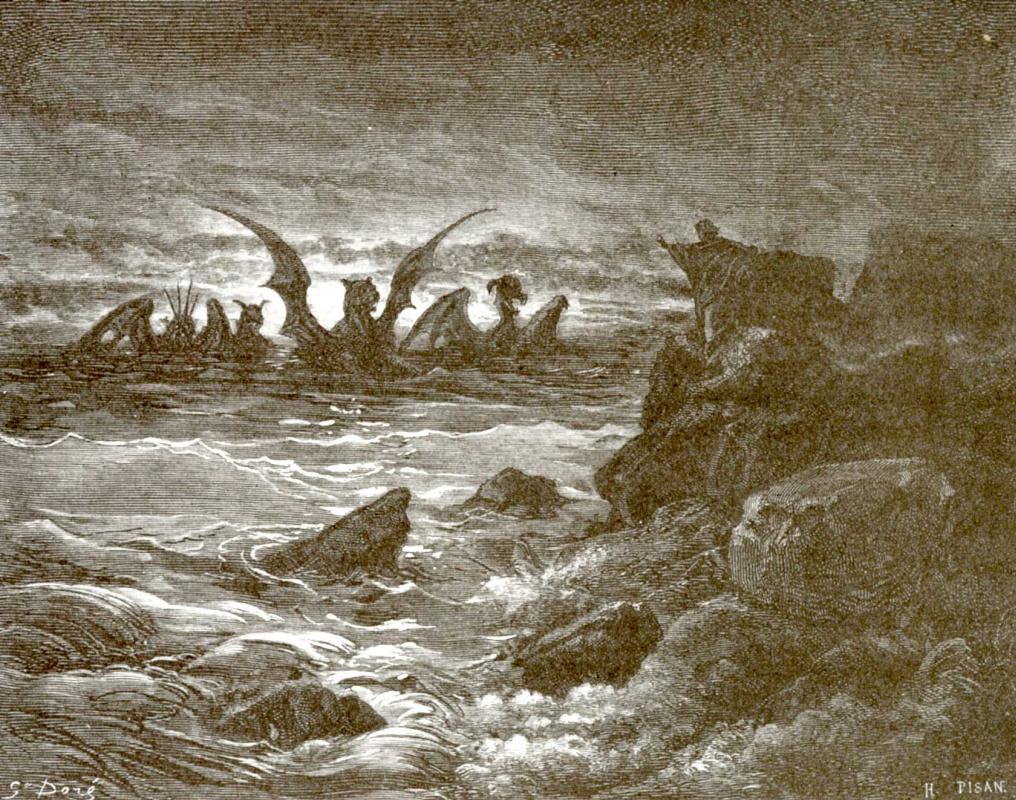 Поль Гюстав Доре. Иллюстрация к Библии: видение пророка Даниила