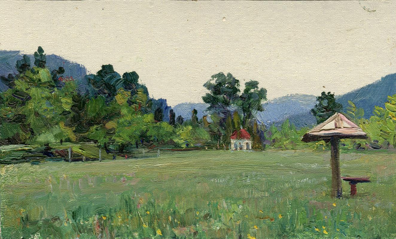 "Vasily Fadeevich Demin. Study ""Meadow in Tuva"""