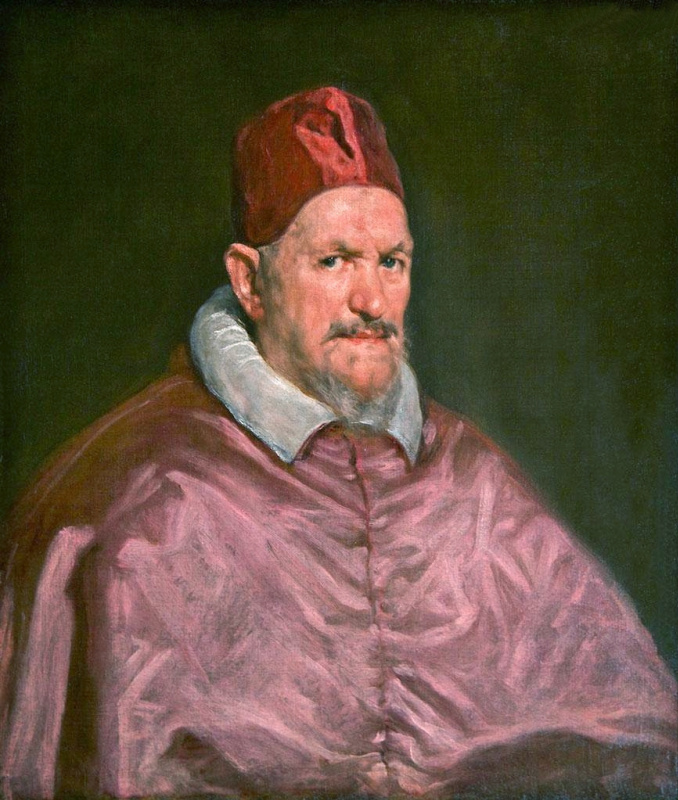 Diego Velazquez. Study for a portrait of Pope innocent X