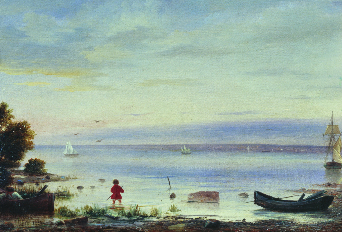 Lev Feliksovich Lagorio. Seascape