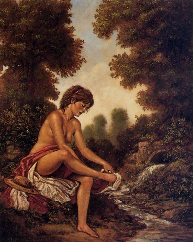 Эммануэль Гарант. Девушка в лесу