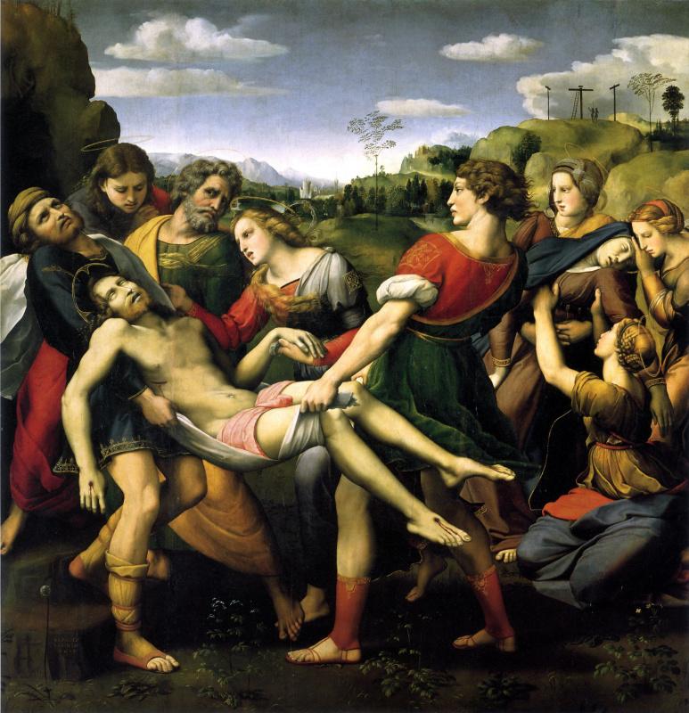 Рафаэль Санти. Положение во гроб. Алтарь Бальони