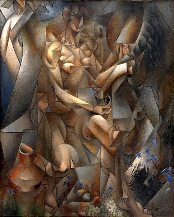 Jean Metzinger. A woman with a horse (Rider)
