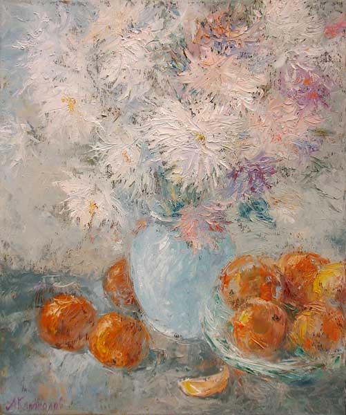Антон Борисович Колоколов. Натюрморт с апельсинами.   2007
