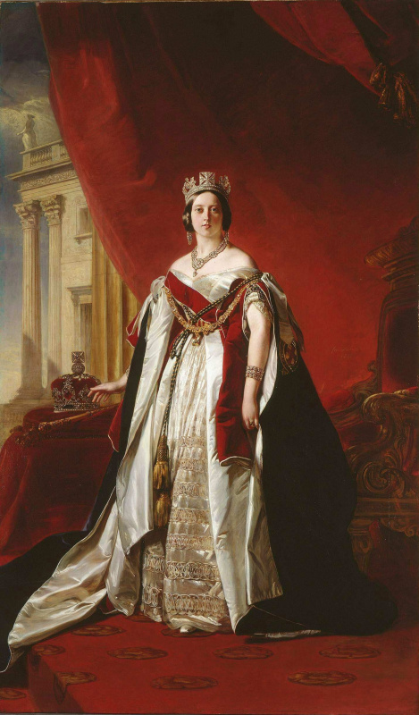 Franz Xaver Winterhalter. The portrait of Queen Victoria