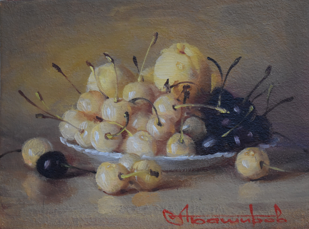 Andrey Bashirov. Cherry and apricots.
