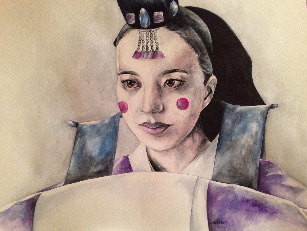 Oxana Kryukova. Self portrait