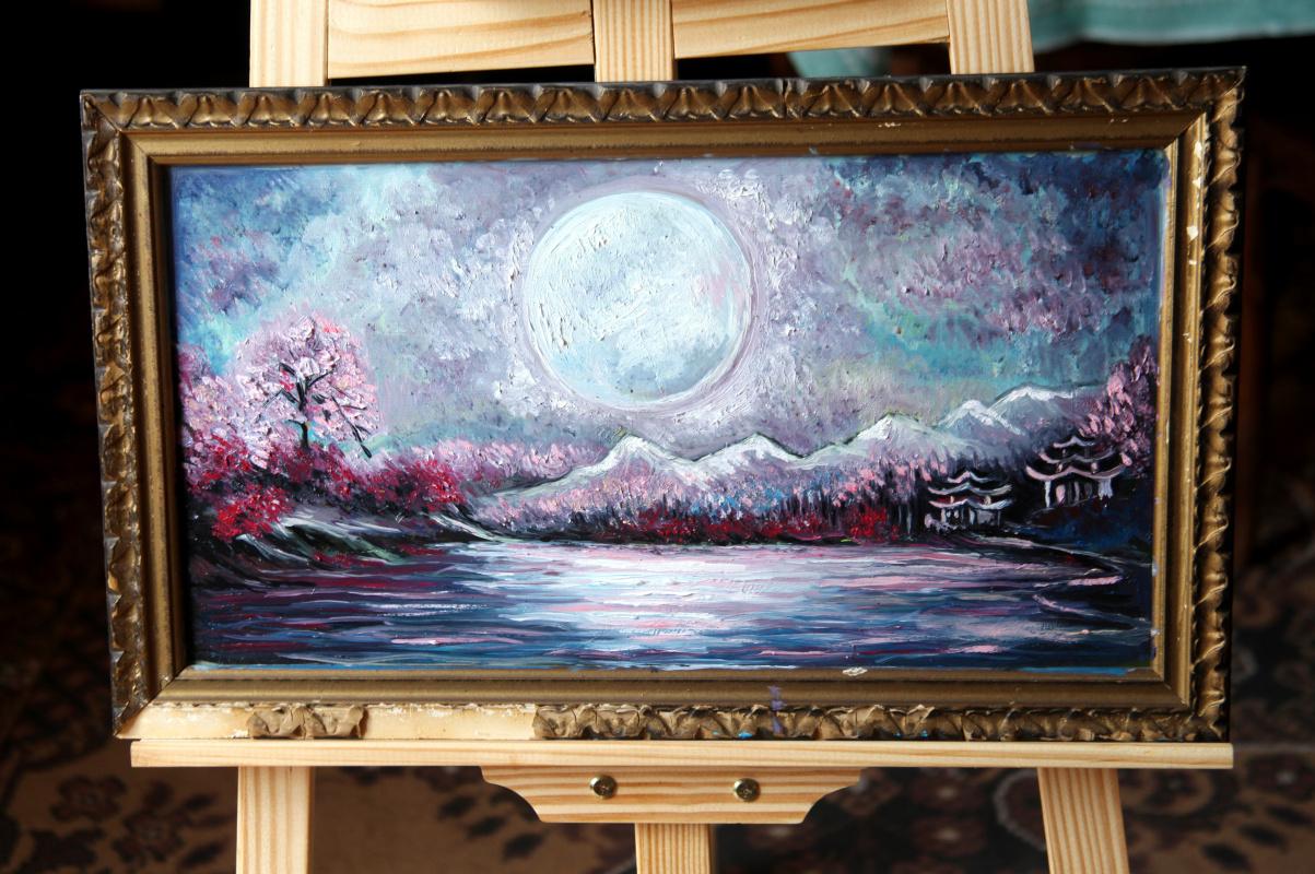 Michael Tchitchinadze (13). Shoganai - cardboard 47 x 26. oil. Price 700 $
