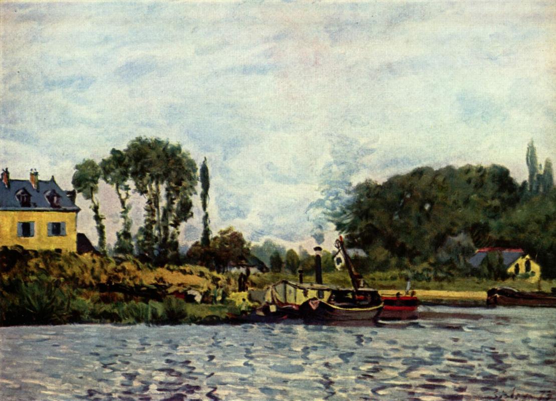 Alfred Sisley. Boats at Bougival