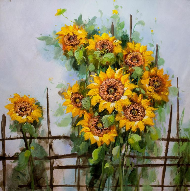 Maria Potapova. Still life with sunflowers N2