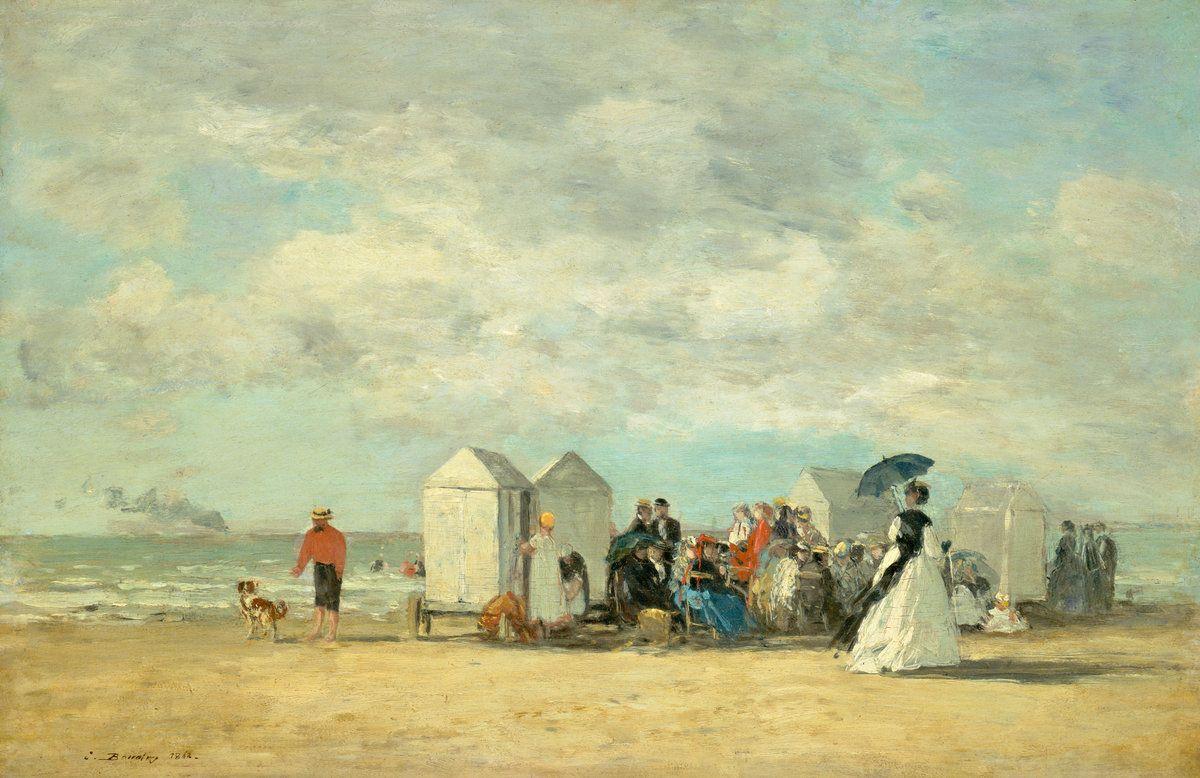 Eugene Boudin. Scene beach