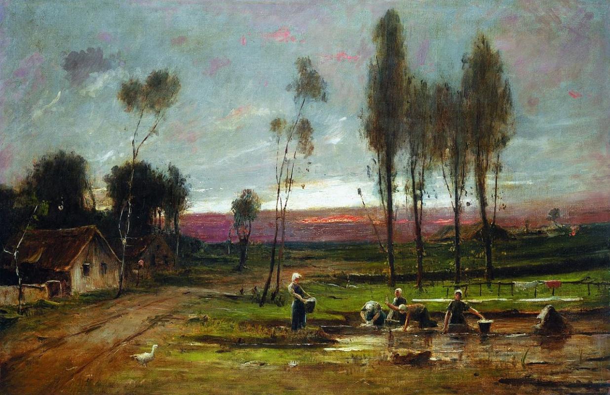 Михай Либ Мункачи. Женщины, стирающие в реке