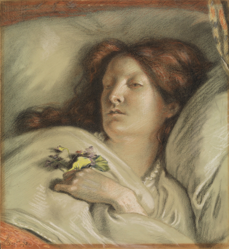 Ford Madox Brown. A convalescent. Portrait of the artist's wife