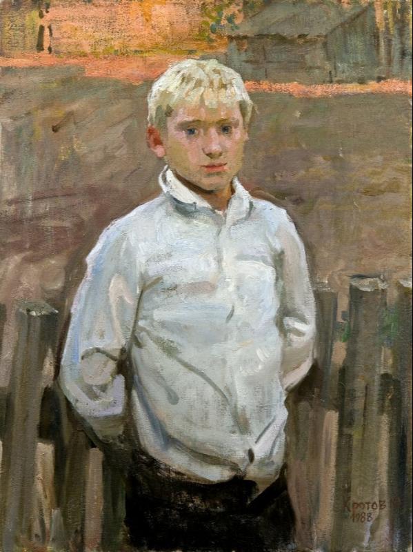 Yuri Krotov. Country boy, Alyosha Bely.