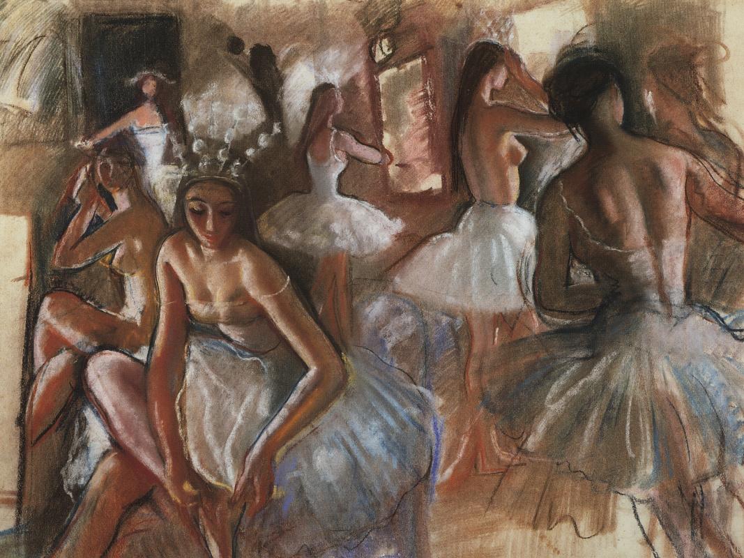 "Zinaida Serebriakova. Snowflakes. The Tchaikovsky Ballet ""The Nutcracker"""