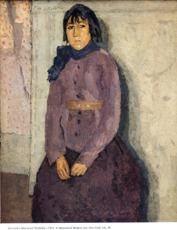 Гвен Джон. Девушка с синим шарфом