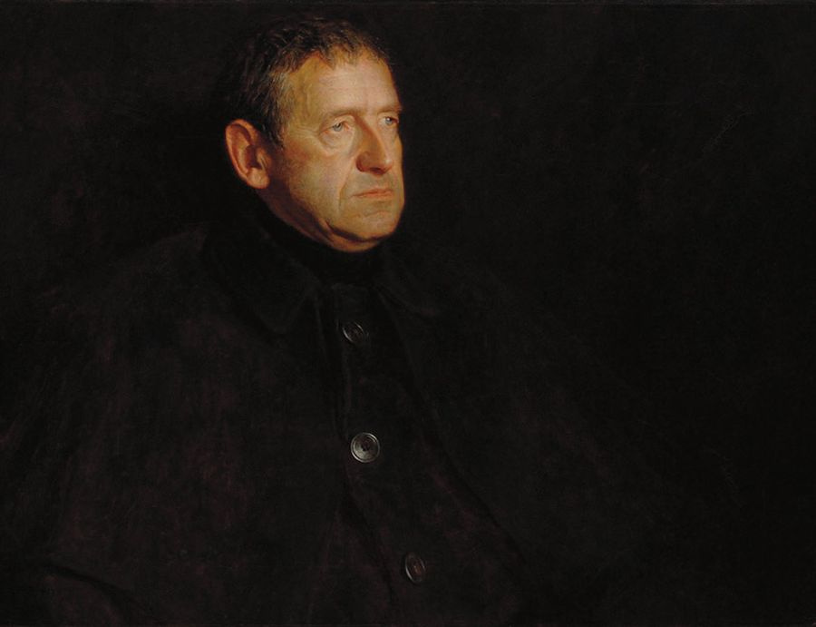 Jamie Wyeth. Portrait of the artist's father, Andrew Wyeth