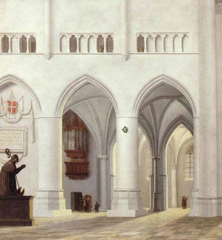 Питер Джансс Сенредам. Интерьер церкви Святого Баво в Харлеме