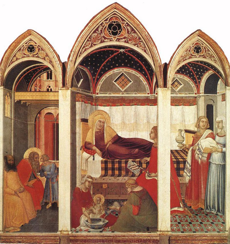 Pietro Lorenzetti. The Birth Of Mary
