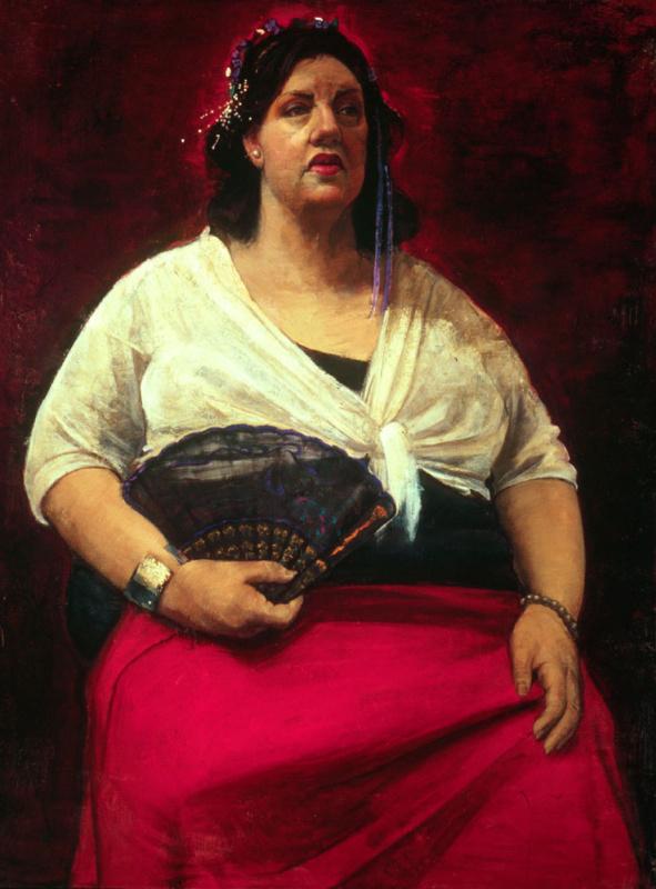 Габриэла Деллоссо. Женщина в красной юбке