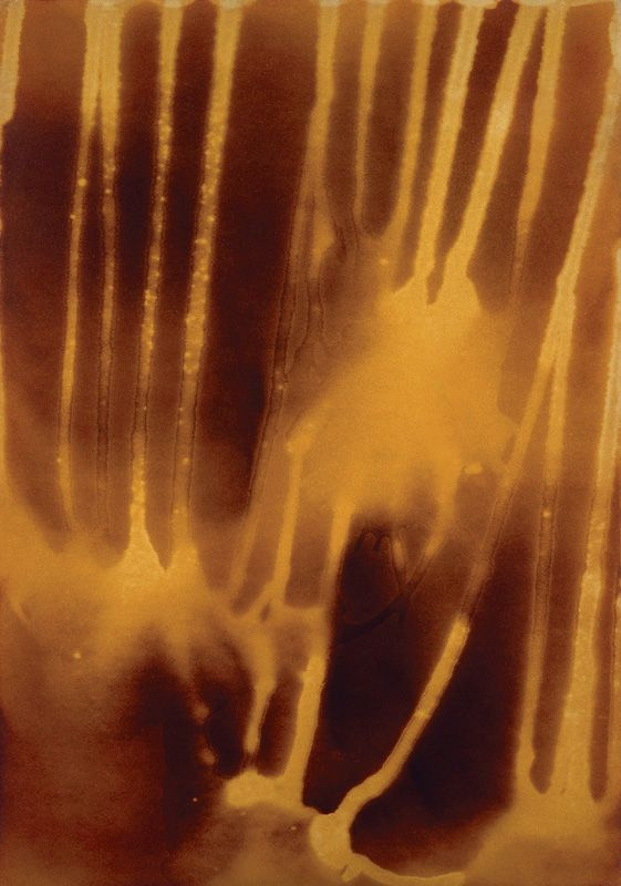 Yves Klein. Map of Mars with water and fire