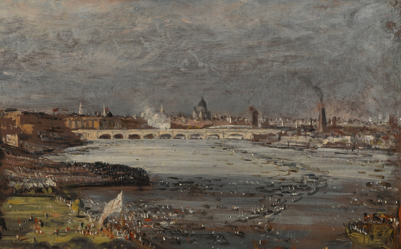 John Constable. The opening of Waterloo bridge, the view from the steps of white hall, a fragment of