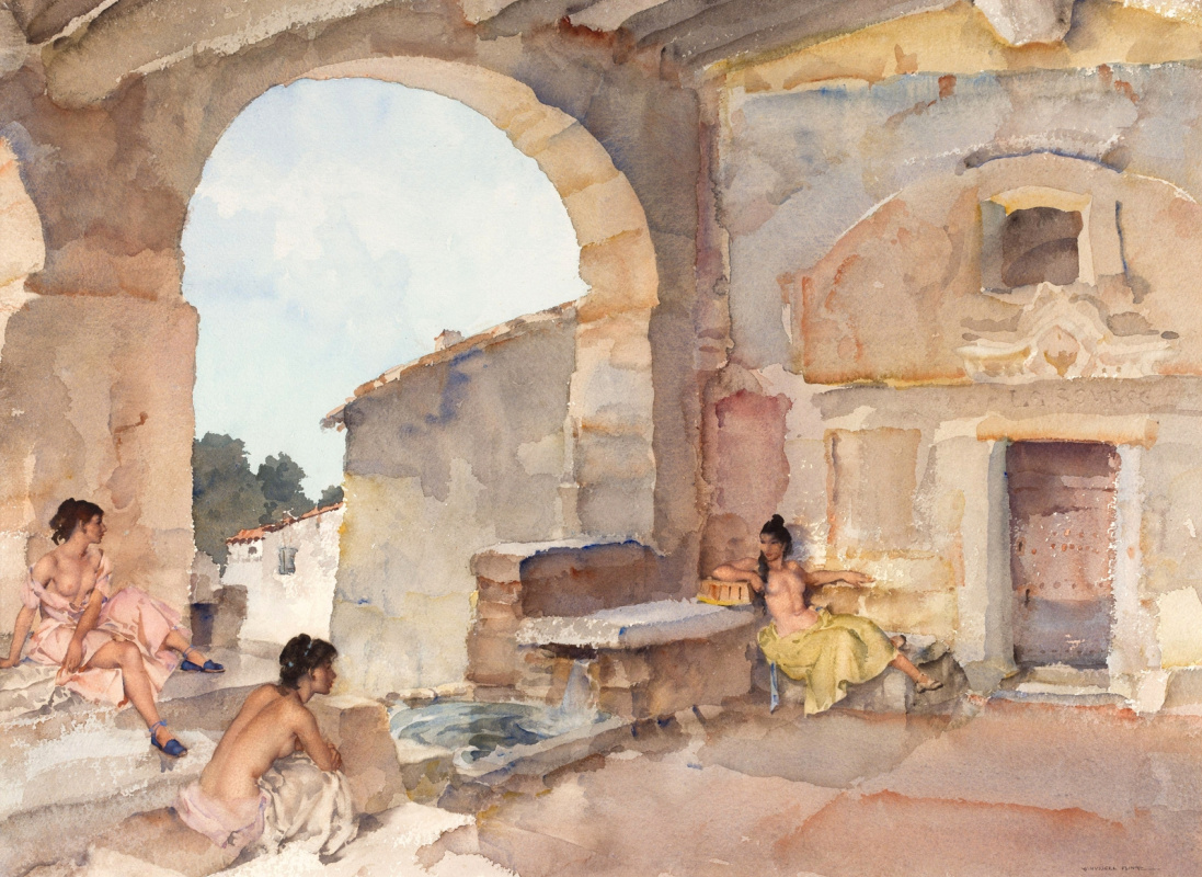 William Russell Flint 1880 - 1969 Scotland. A source. 1957-1959