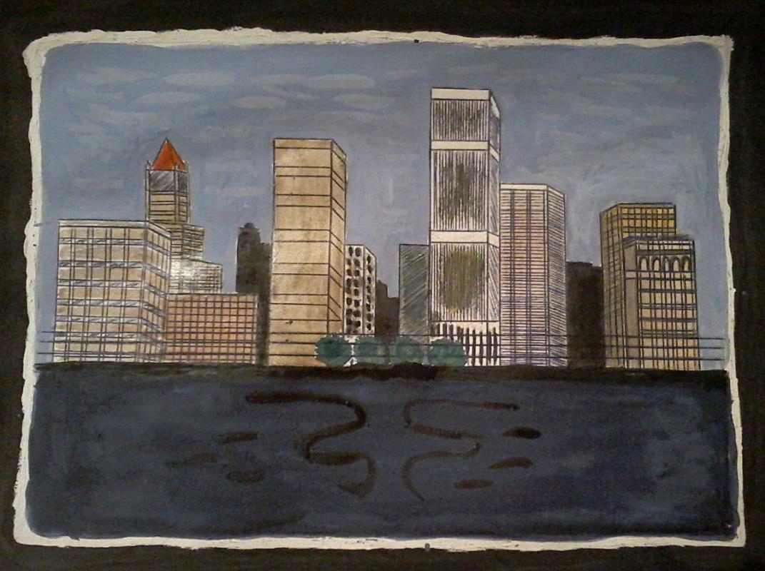 Mariya Pretser. City Sketch
