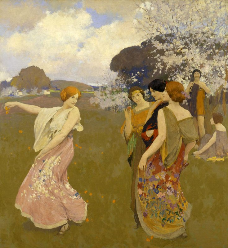 Arthur Frank Matthews. Spring dance