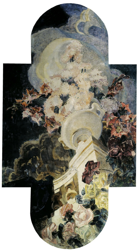 """Chrysanthemum. Triptych """"Flowers"""" for the house of E. D. Dunker in Moscow. The Central part of the triptych"""