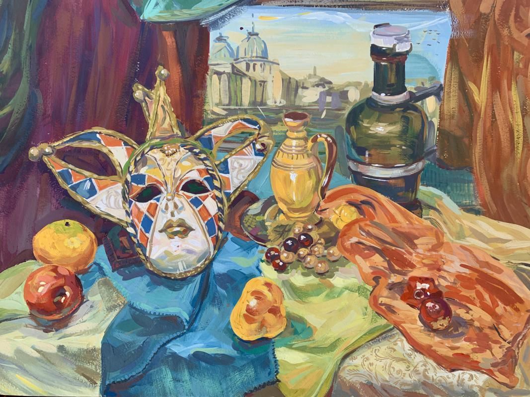 Eldar Buzyakov. Still life with mask
