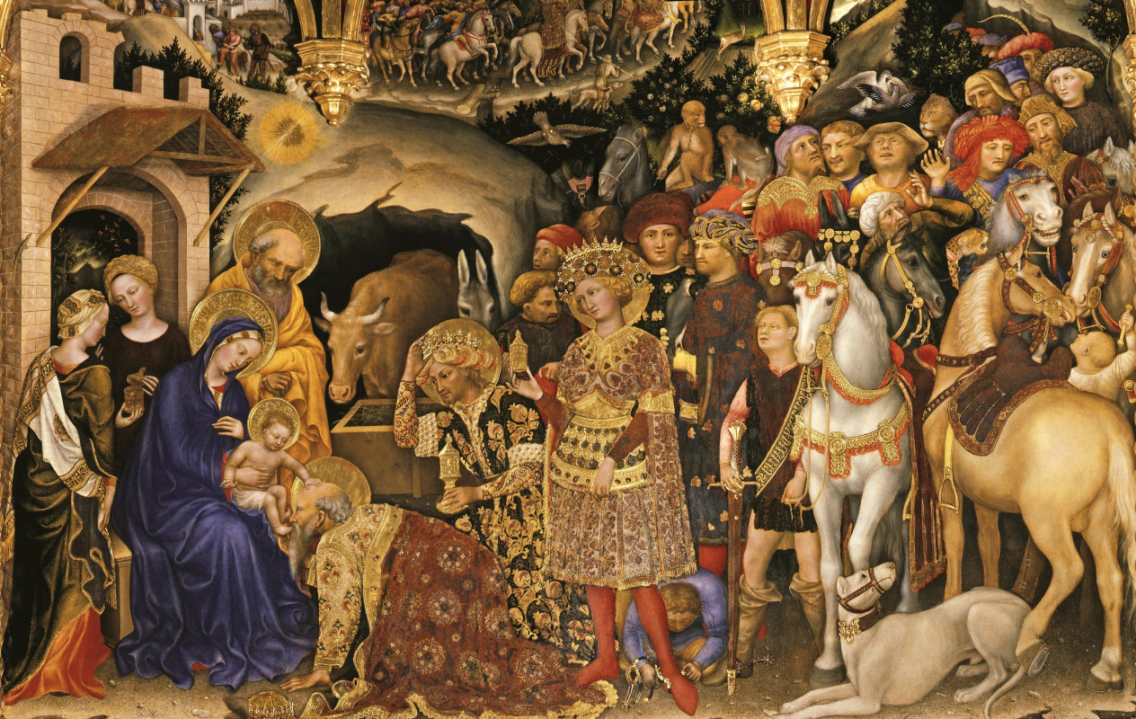 Gentile da Fabriano. The adoration of the Magi. Fragment