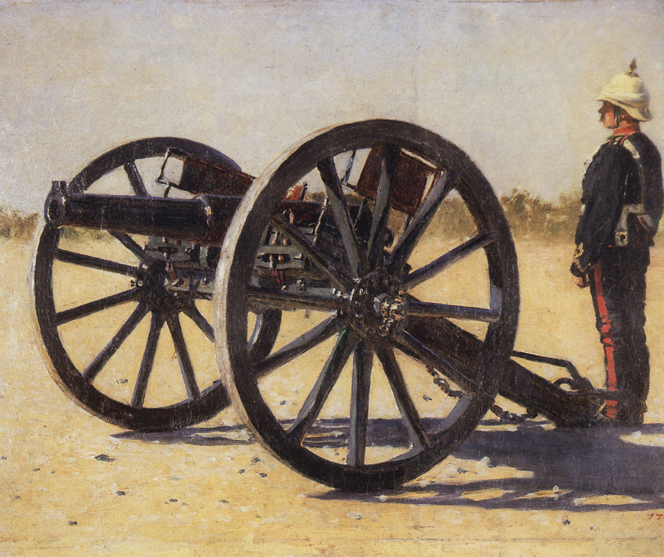 Vasily Vereshchagin. A gun. Study for the painting 'Blowing from Guns in British India'