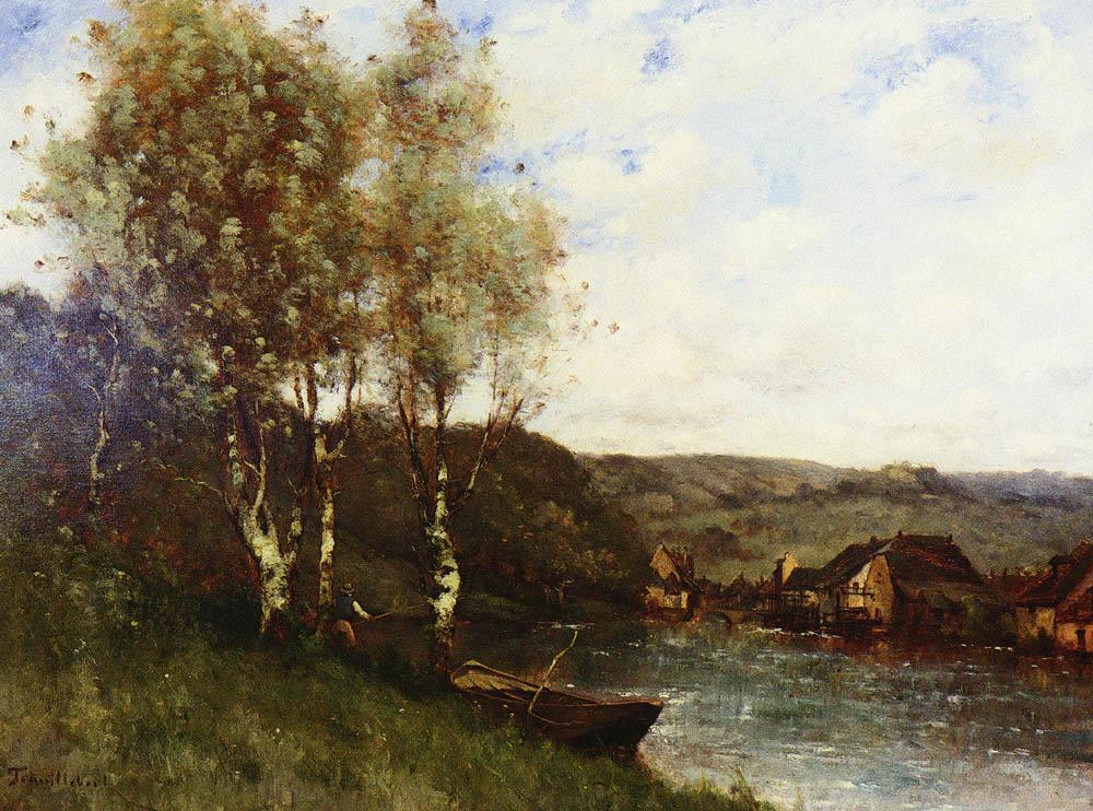 Paul Desair Truillbert. Fisherman on the river