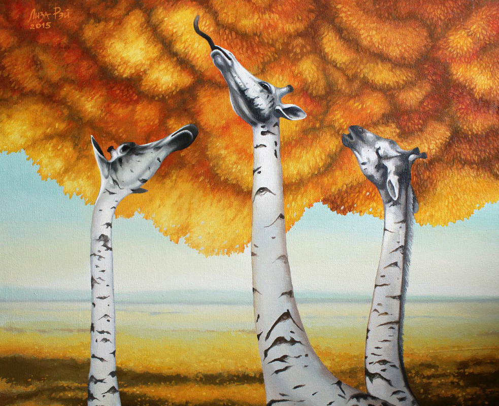 Lisa Ray. Autumn birches