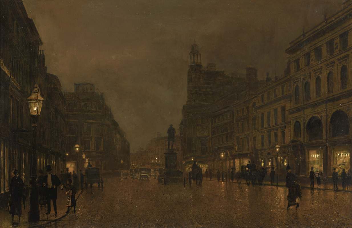 John Atkinson Grimshaw. St. Anne Square and the Exchange Building, Manchester
