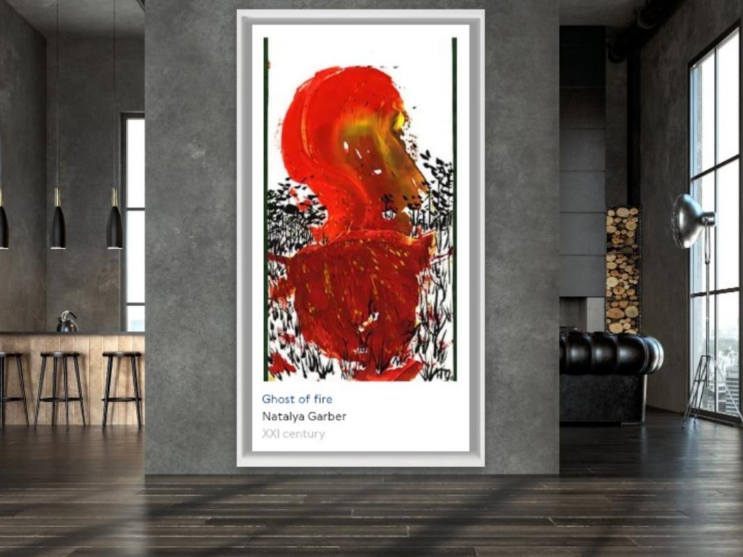 Natalya Garber. The fire. Work for a creative office, design bureau or art studio