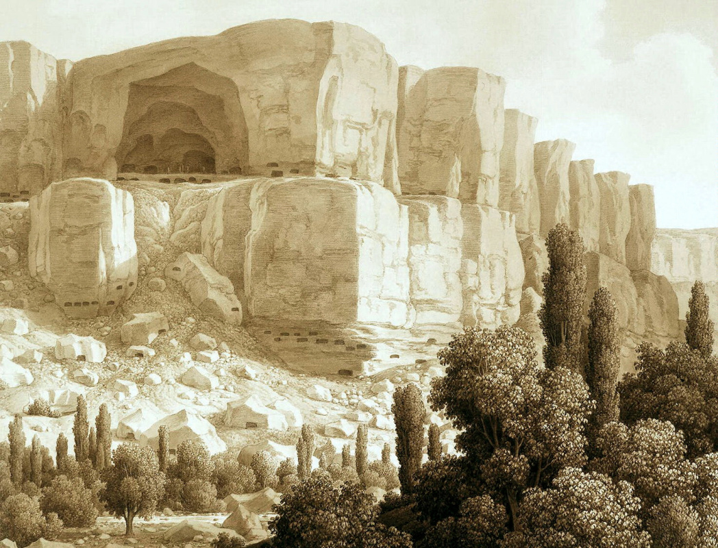 Карл фон Кюгельген. Вид пещерных скал близ Качикалена