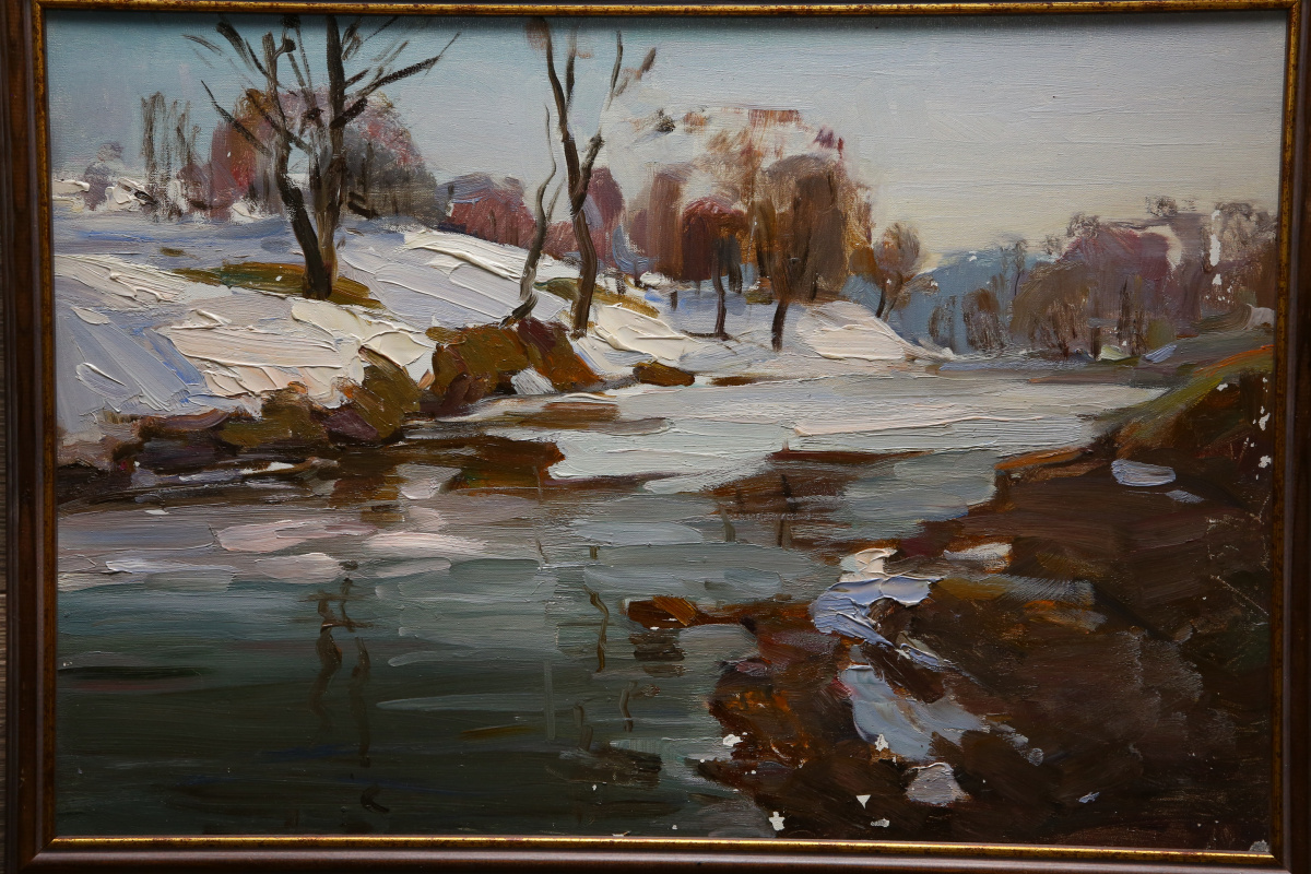 Boris Ivanovich Sinaleyov. Spring landscape