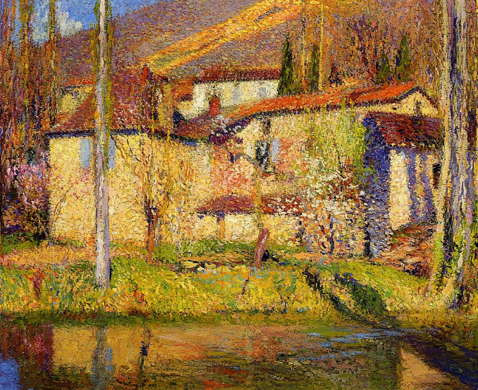 Henri Martin. Landscape near Toulouse