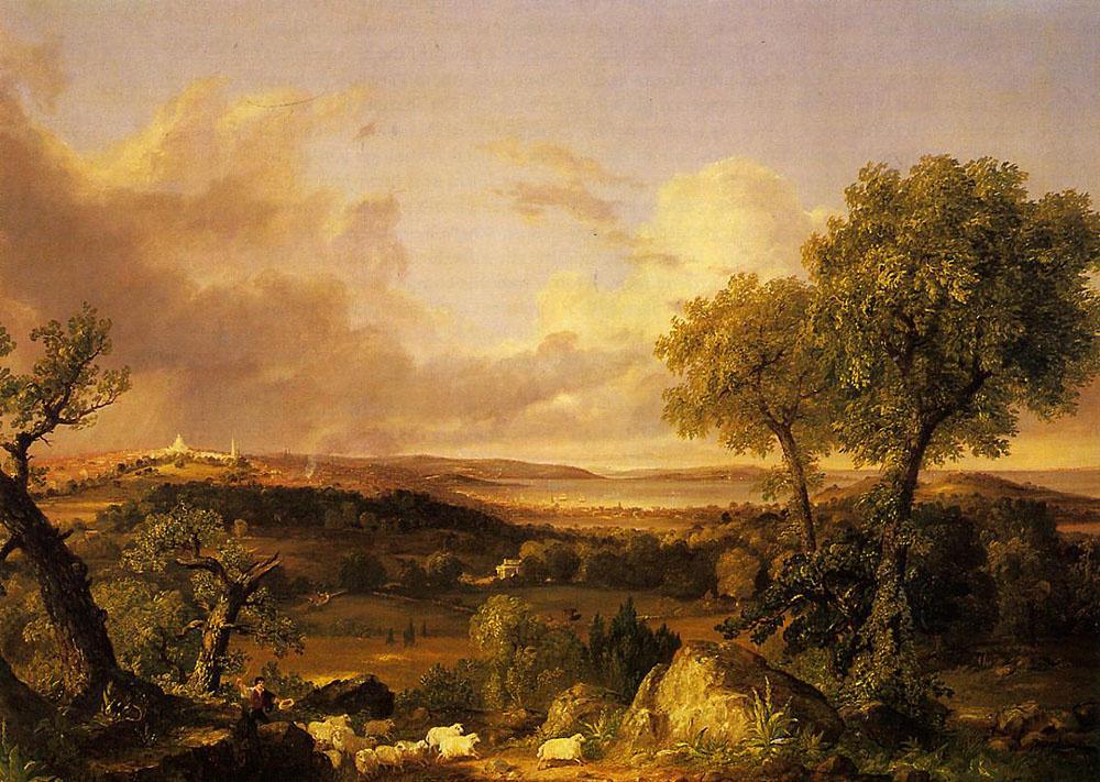 Thomas Cole. View Of Boston