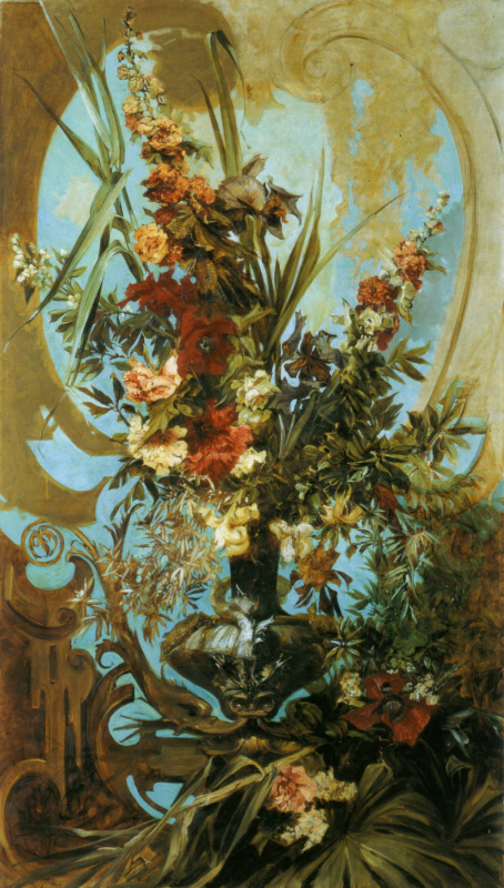 Hans Makart. Decorative bouquet of flowers
